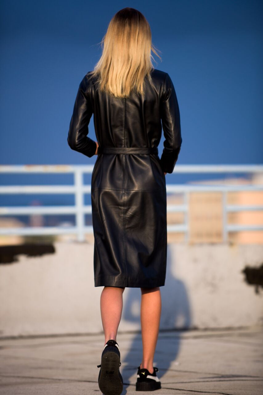 Loli Tie Leather Dress