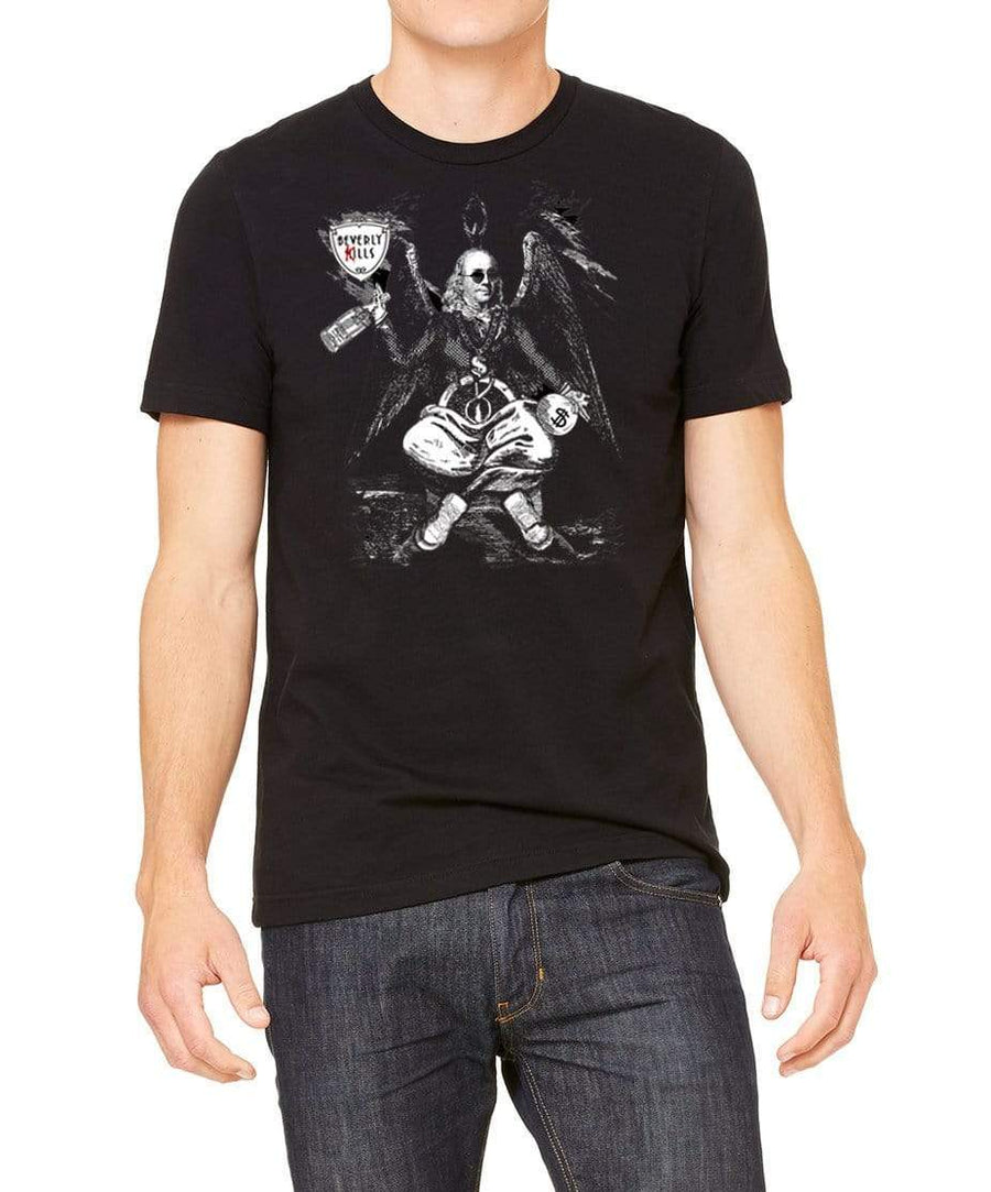 Benjamin Franklin as the Baphomet the obsession of money is the root of all evil in this Beverly Kills Hollywood streetwear Shirt