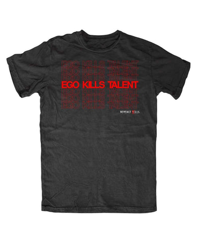 Beverly Kills Ego Kills Talent red Hollywood design on premium mens edgy streetwear t-shirt