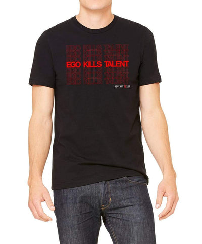 Red Ego Kills Talent design on mens black Beverly Kills Los Angeles streetwear Shirt