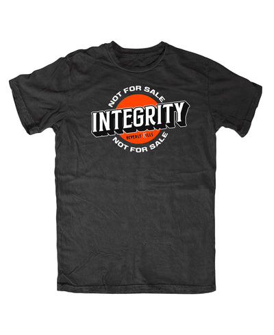 Beverly Kills Integrity Not For Sale Hollywood design on premium mens edgy streetwear t-shirt
