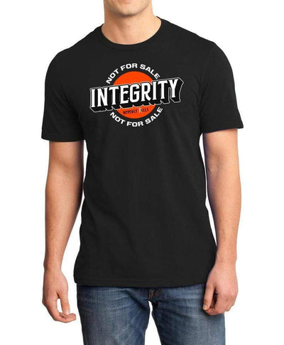 Integrity Not For Sale design on mens black Beverly Kills Los Angeles streetwear Shirt