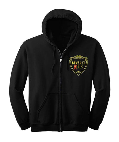 Beverly Kills Logo Hollywood design on premium mens edgy streetwear hoodie