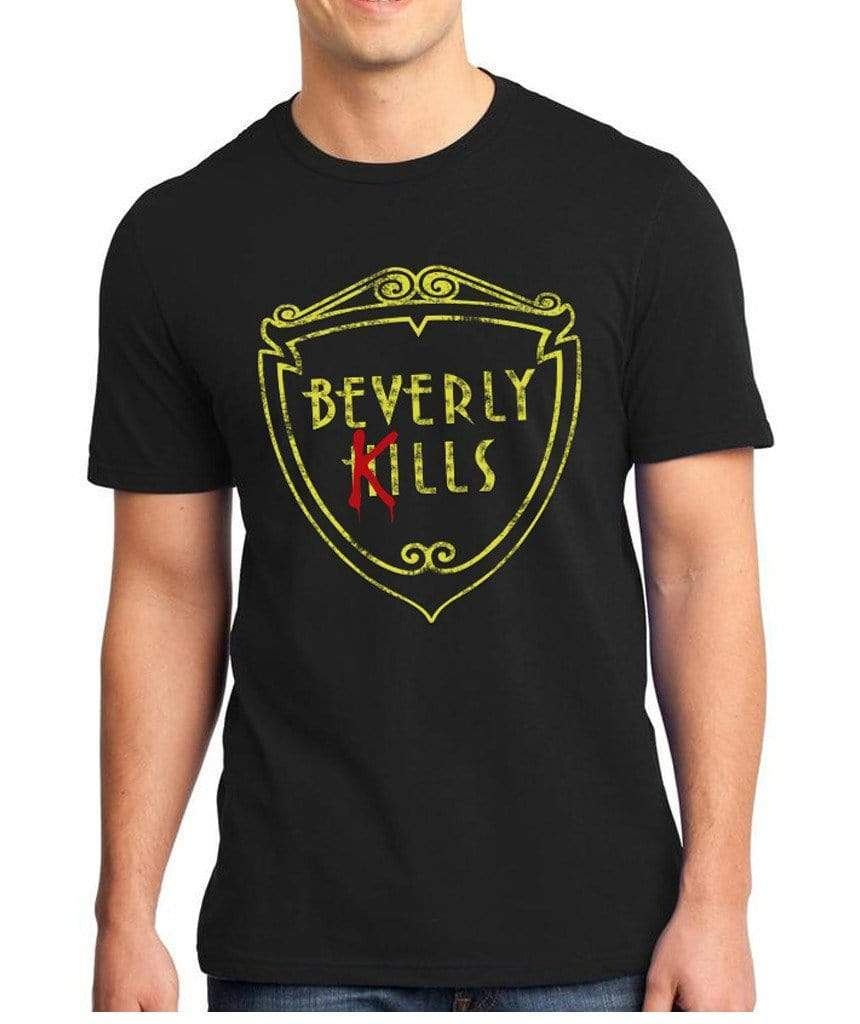 Beverly Kills Logo Hollywood design on premium mens edgy streetwear t-shirt