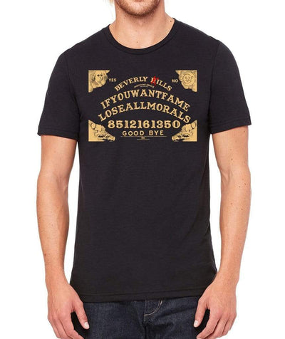 Ouija morals design on mens black Beverly Kills Los Angeles streetwear Shirt