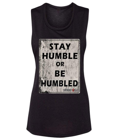 Beverly Kills Stay Humble or Be Humbled depp Hollywood design on comfy womens edgy streetwear tank