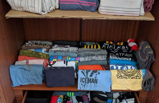 KonMari Shirt Shelf Folded