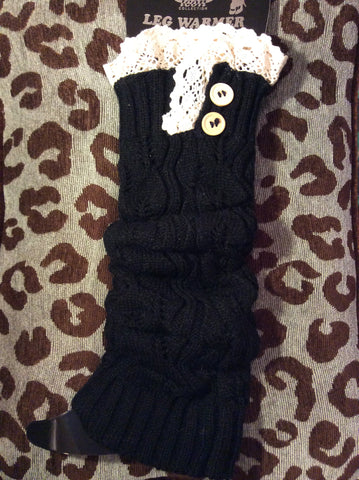 Leg Warmer-Tall Black