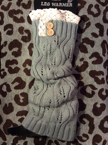 Leg Warmer-Tall Grey