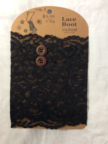 Boot Topper-Black Lace