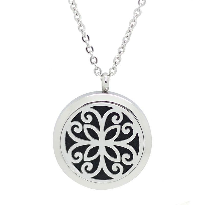 Aromatherapy Locket - Flower Swirl