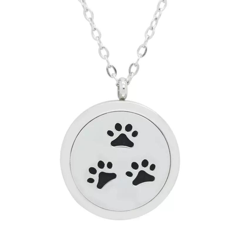 Aromatherapy Locket - Paw Prints