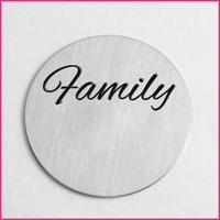 Back plate for use with large Memory Lockets - 'Family'