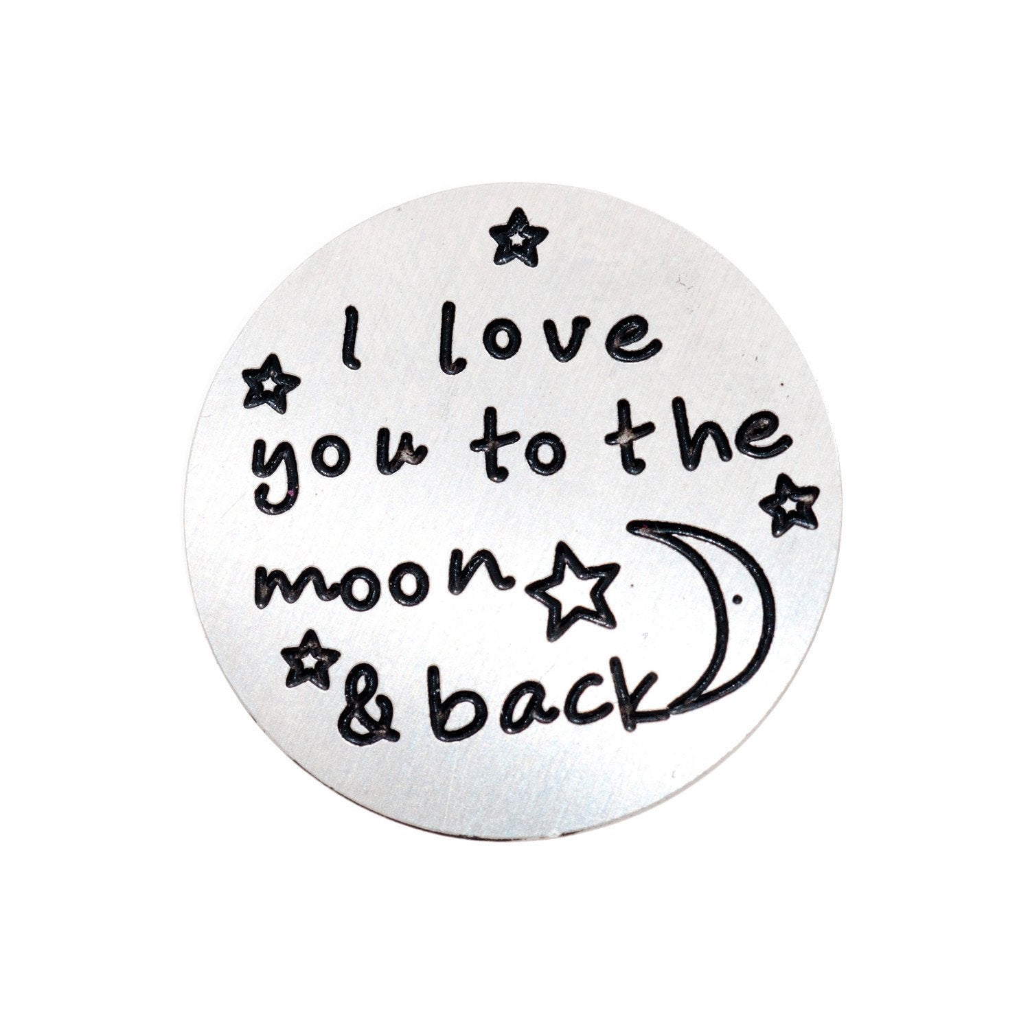 Back plate for use with large Memory Lockets - 'I love you to the moon and back'