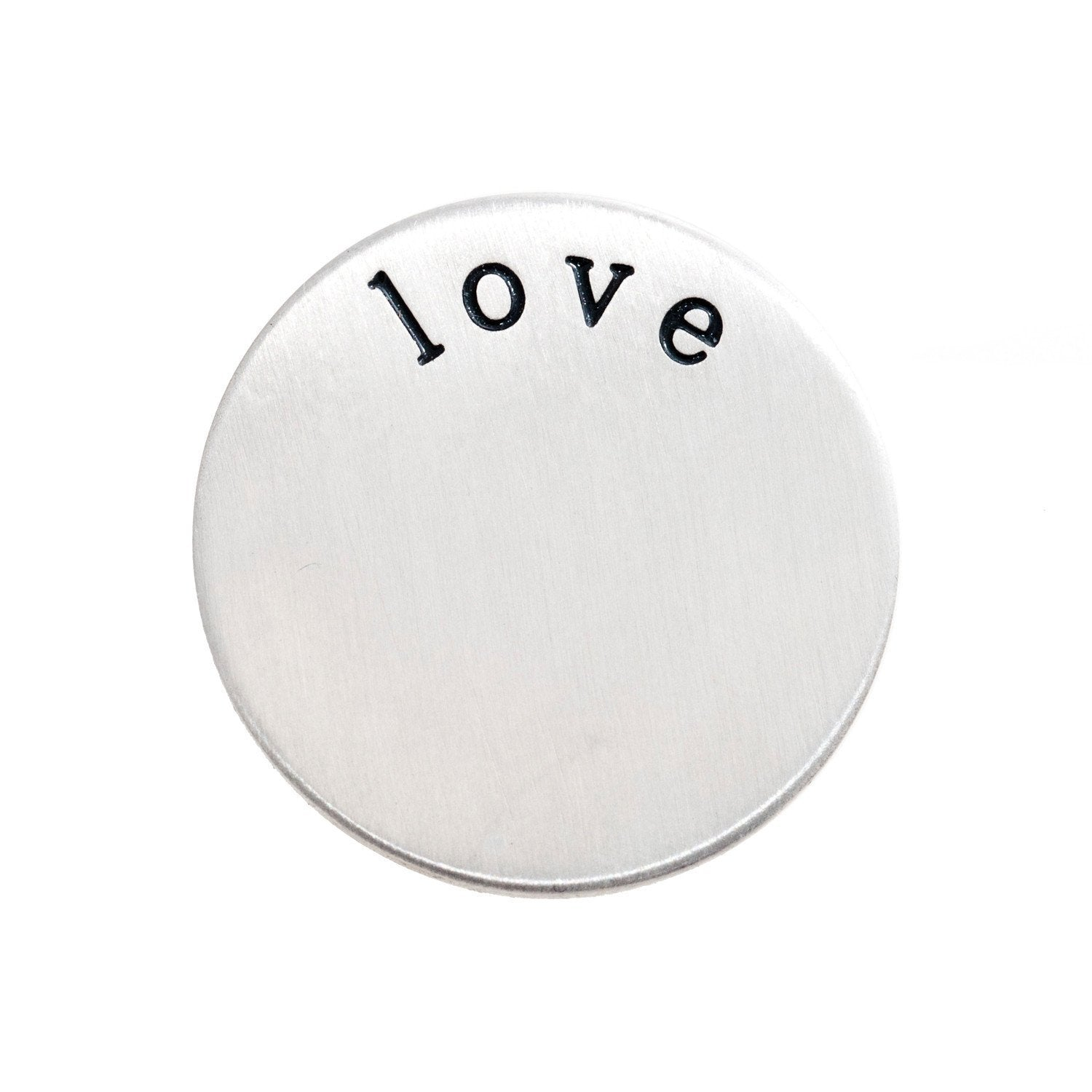 Back plate for use with large Memory Lockets - 'love'