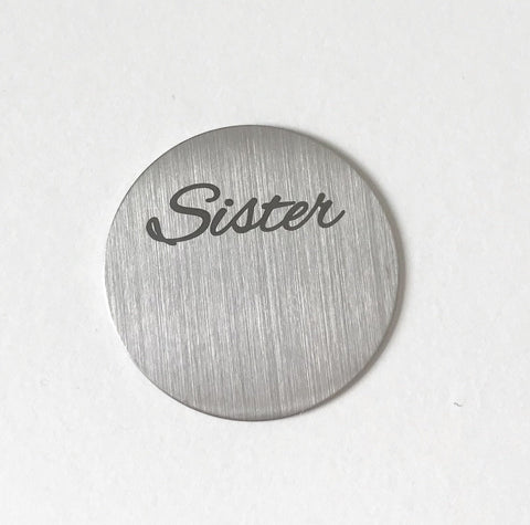 Back plate for use with large Memory Lockets - 'Sister'