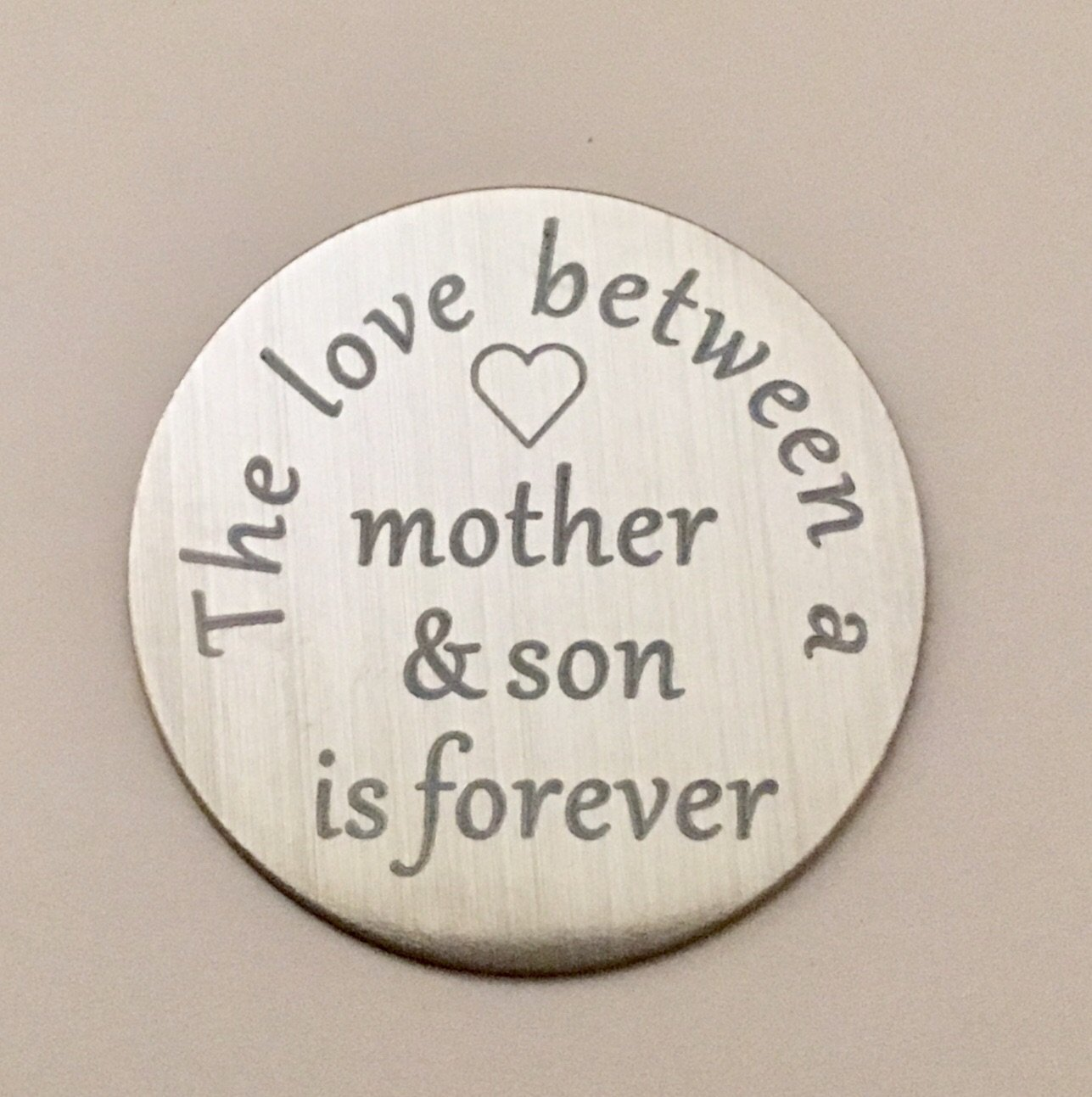 Back plate for use with large Memory Lockets - 'The love between...son'