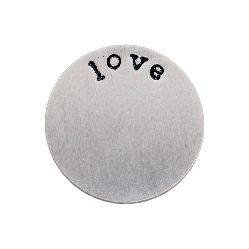 Back plate for use with medium lockets – 'love' - Your Locket