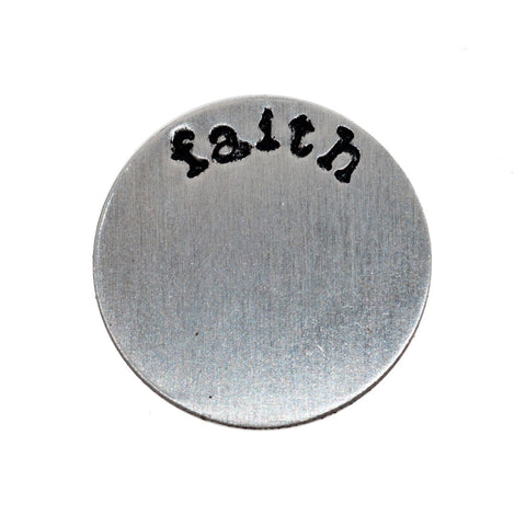 Back plate for use with medium Memory Lockets  - 'faith'
