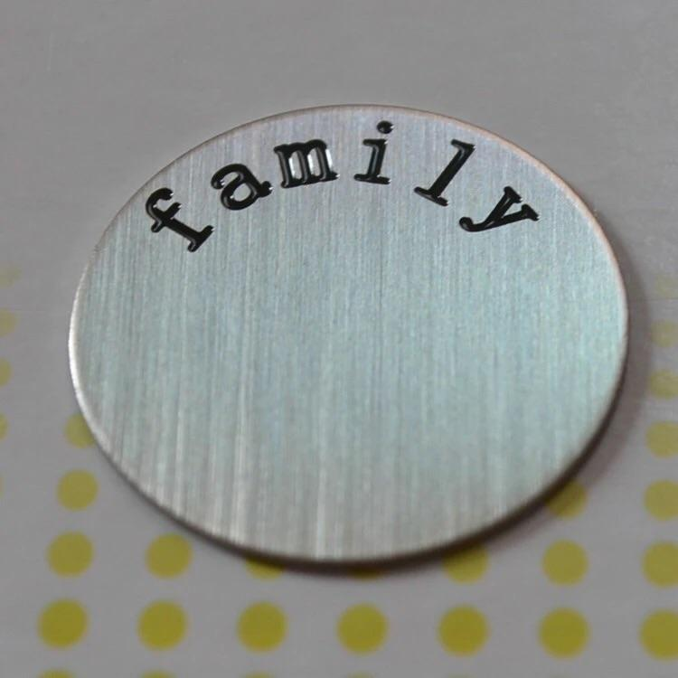Back plate for use with medium Memory Lockets - 'Family' - Your Locket