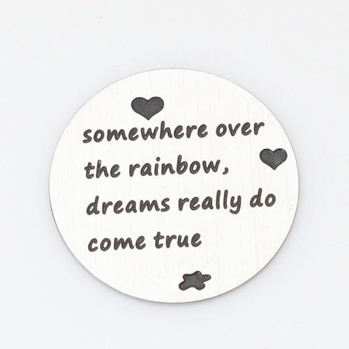 Back plate for use with medium Memory Lockets - 'Over the Rainbow' - Your Locket