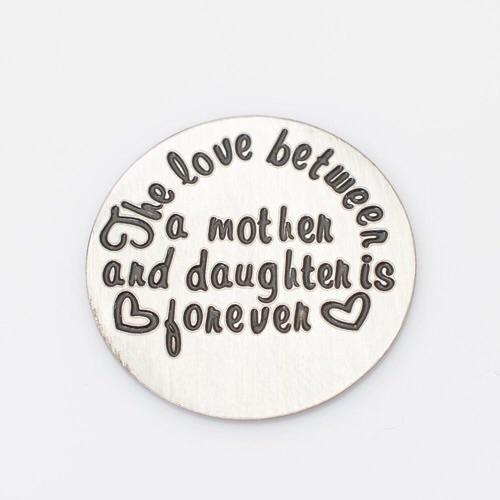 Back plate for use with medium Memory Lockets - 'The love between...'