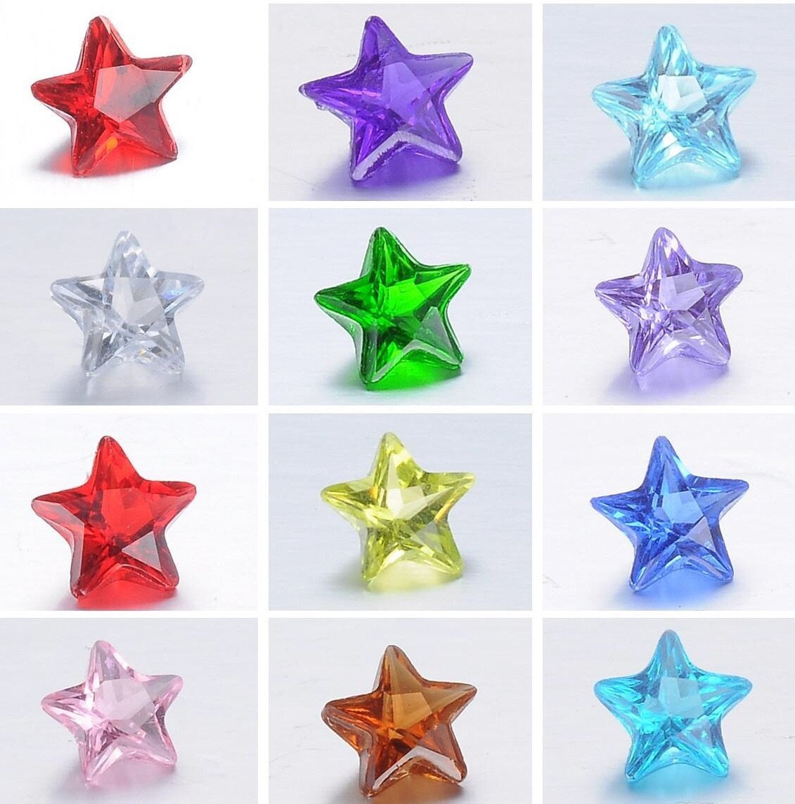 Birthstone Crystal Star (Click to view all months)