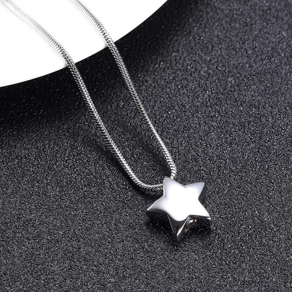 Cremation Locket - Silver Star