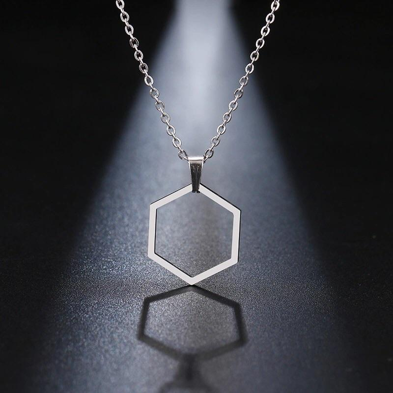 Everyday Pendant - Hexagonal Geo