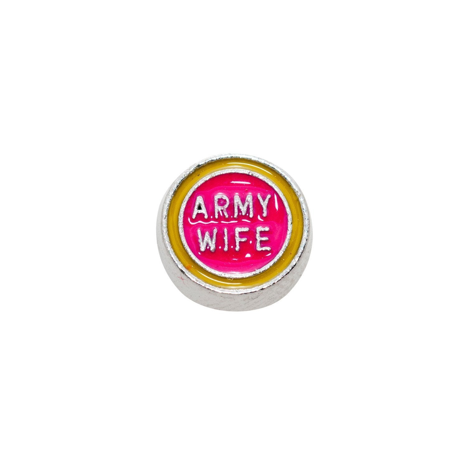 Memory Locket Charm - Army wife