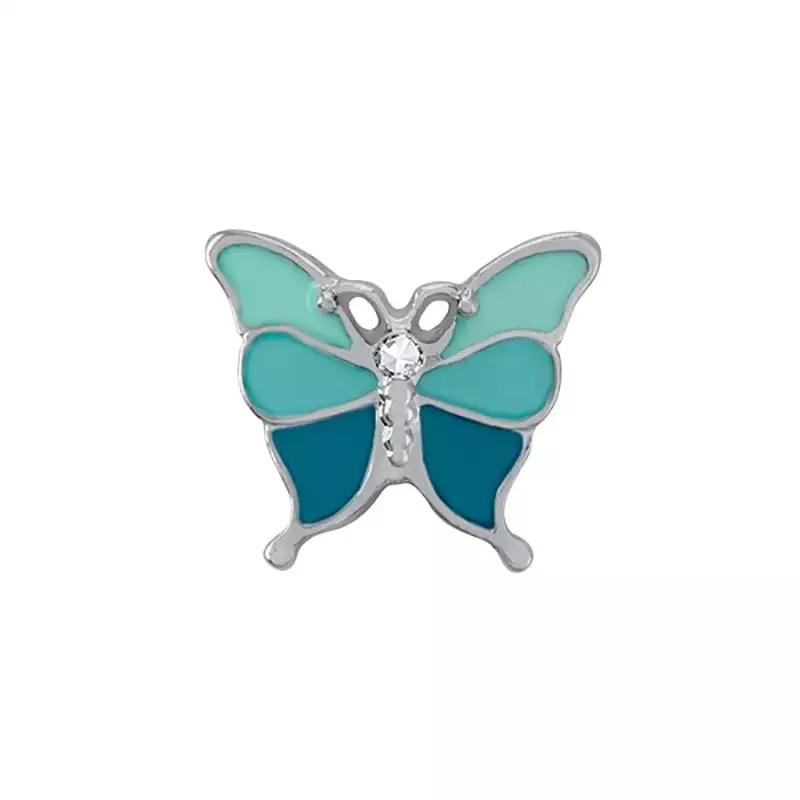 Memory Locket Charm - Butterly (blue) - Your Locket