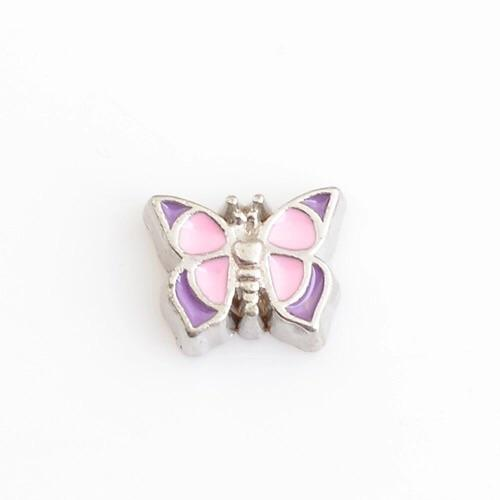 Memory Locket Charm - Butterly (pink) - Your Locket