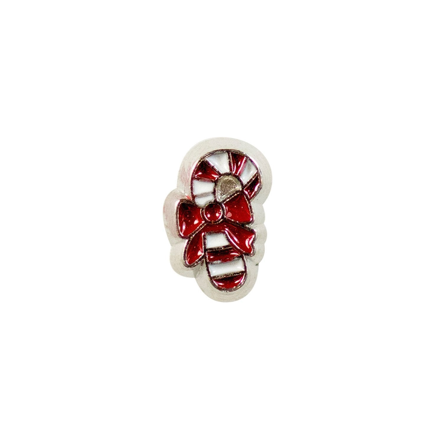 Memory Locket Charm - Candy cane 1