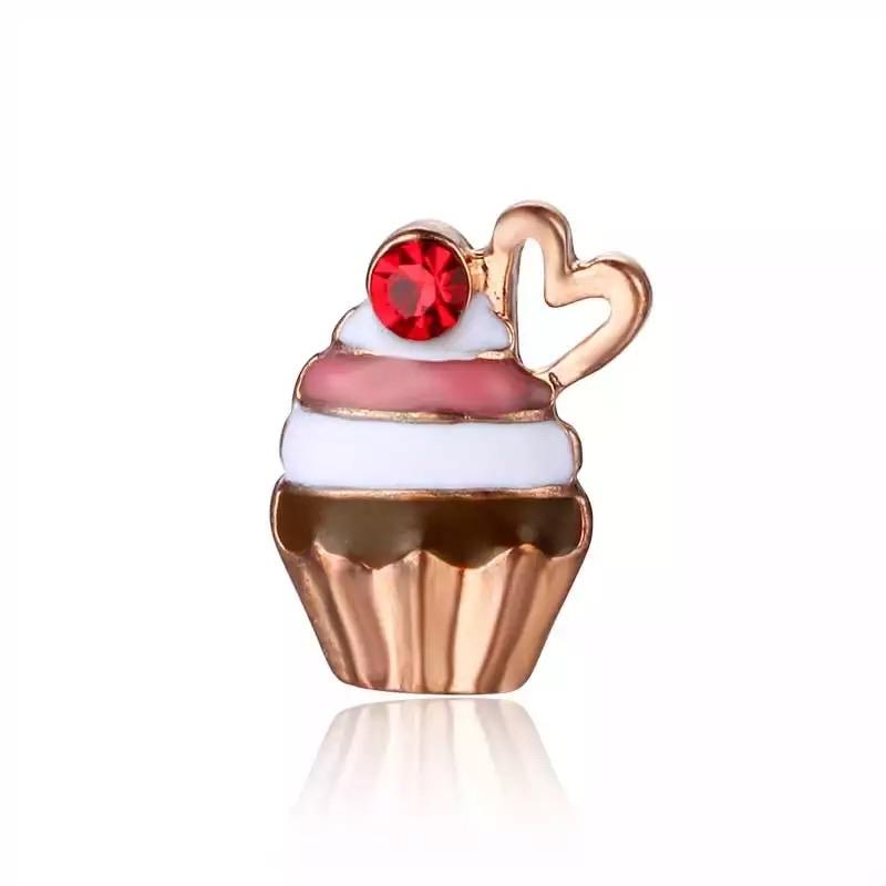 Memory Locket Charm - Cherry Cupcake