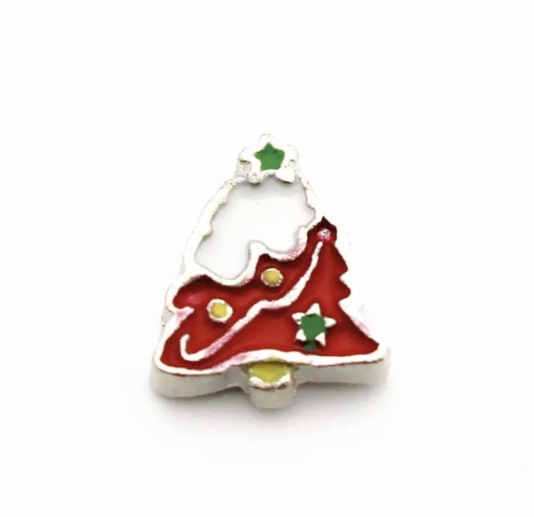 Memory Locket Charm - Christmas Tree with Snow - Your Locket