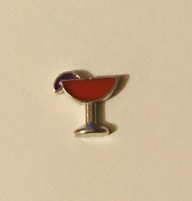 Memory Locket Charm - Cocktail (red) - Your Locket