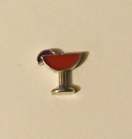 Memory Locket Charm - Cocktail (red)