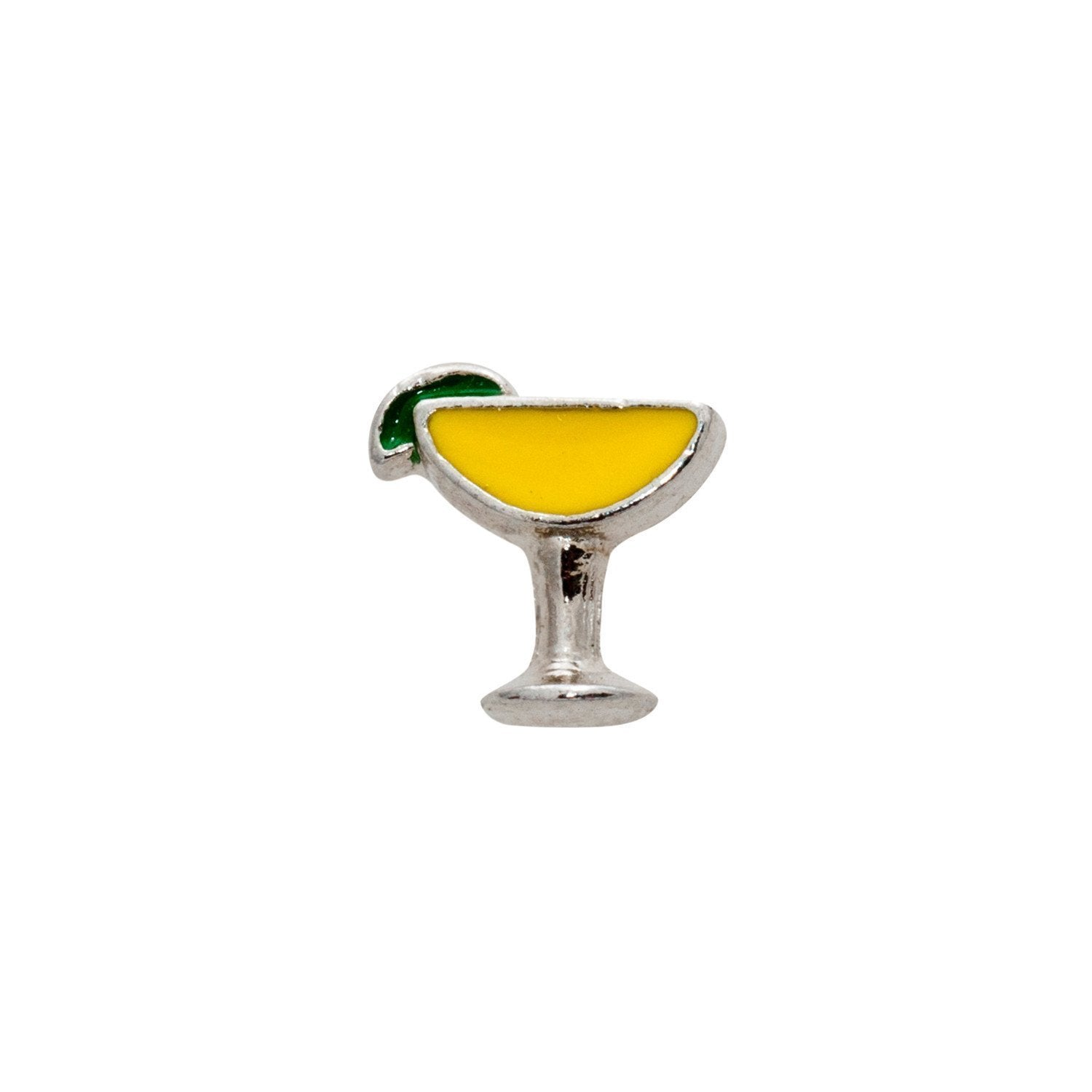 Memory Locket Charm - Cocktail (yellow)