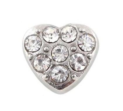 Memory Locket Charm - Crystal heart