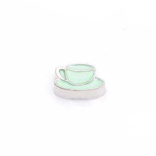 Memory Locket Charm - Cup and saucer