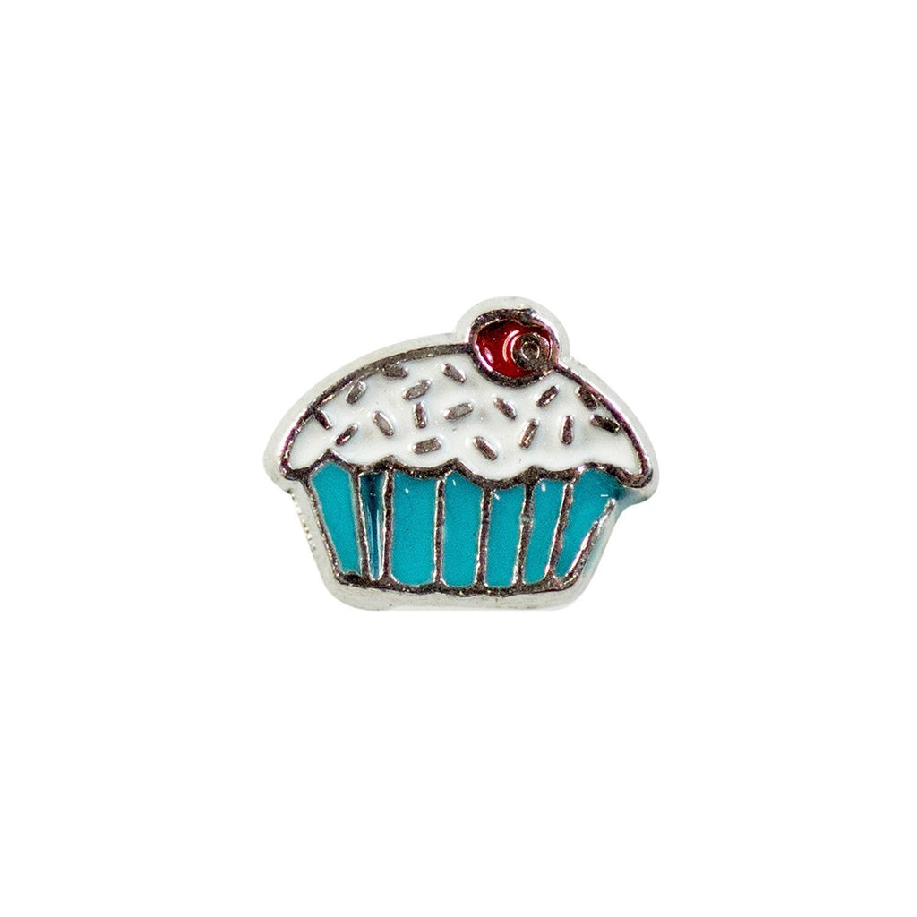 Memory Locket Charm - Cupcake (blue/pink) - Your Locket