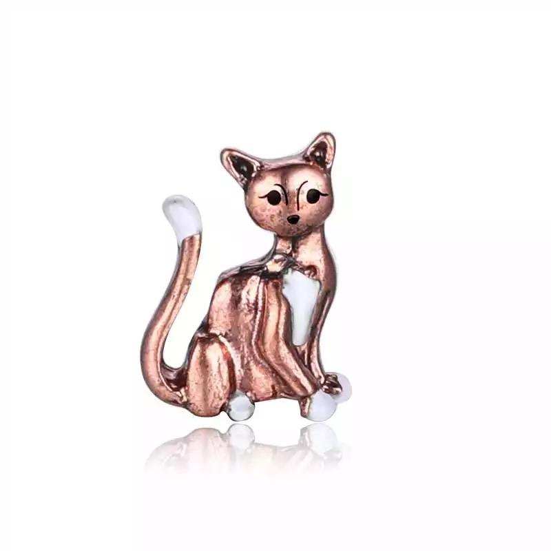 Memory Locket Charm - Gold cat - Your Locket