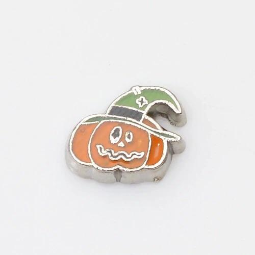 Memory Locket Charm - Halloween pumpkin