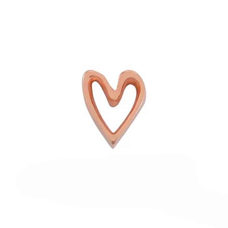 Memory Locket Charm - Heart Frame Rose Gold