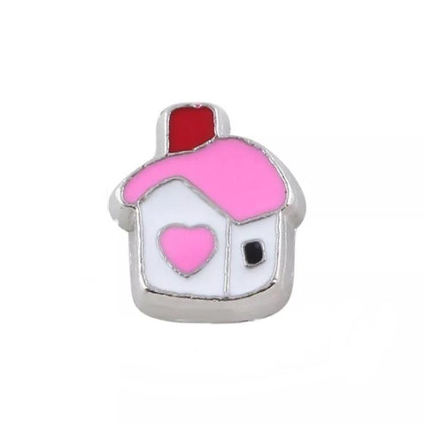Memory Locket Charm - House (pink)