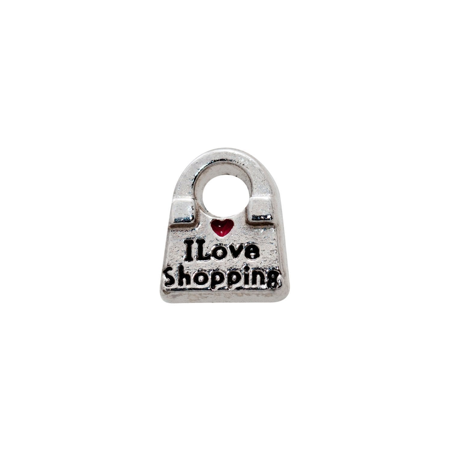Memory Locket Charm - I love shopping