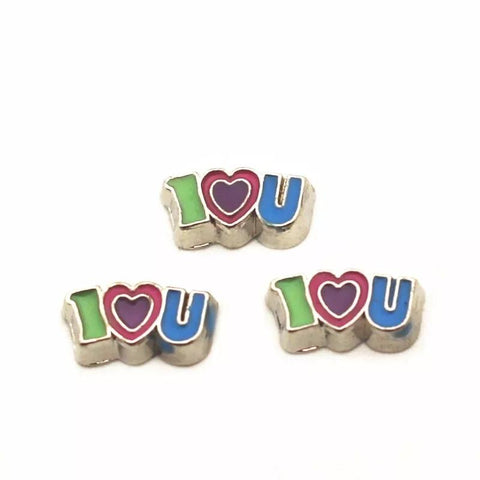 Memory Locket Charm - I Love You -  colourful