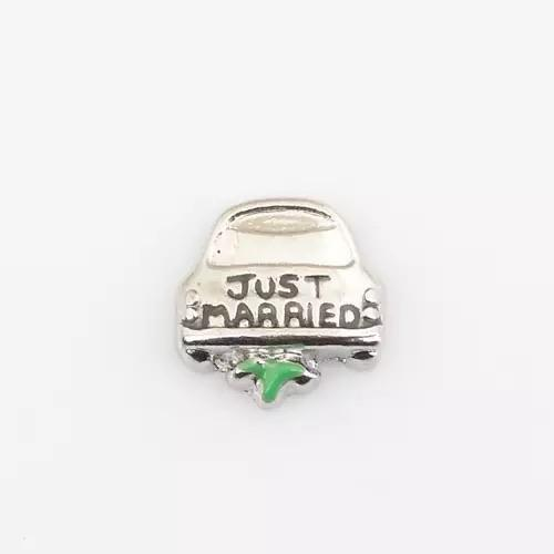 Memory Locket Charm - Just Married