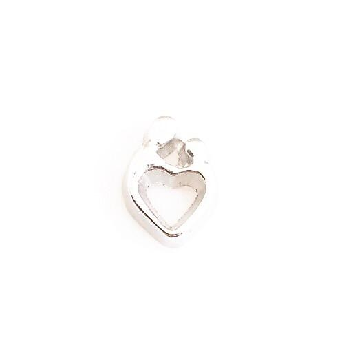 Memory Locket Charm - Mother and child heart