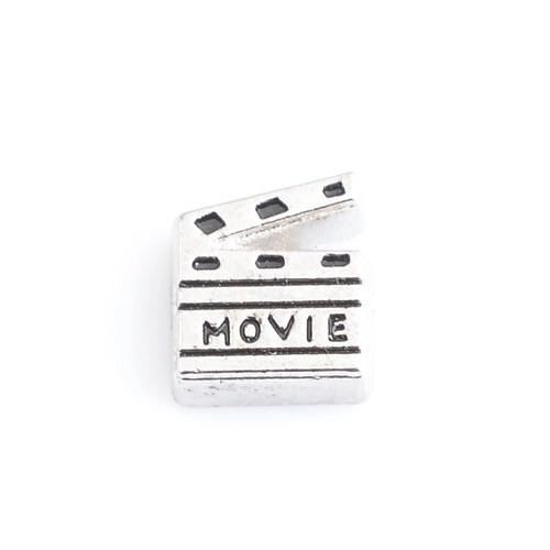 Memory Locket Charm - Movie clapper board